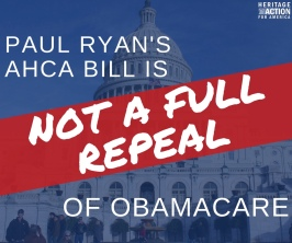 Ryanocare is Not FULL Repeal