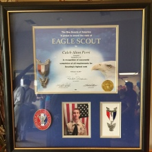 Caleb Eagle Scout framed